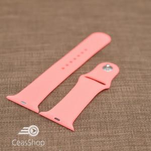 Curea silicon rosu piersică iWatch - 42mm