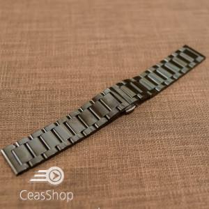 Bratara metalica neagra deployant 22mm- 50554
