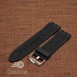 Curea silicon tip Swatch 23 mm neagră