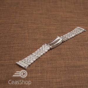 Bratara metalica reglabila argintie capete pe arc 18-24mm - 49453