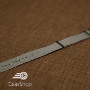Curea NATO gri 18mm catarame negre - 36559