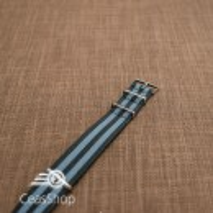 Curea NATO negru cu gri 18mm - 36519