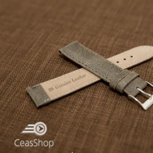 Curea piele gri vintage 22mm - 42238