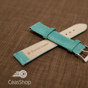 Curea piele turquoise vintage 18mm - 42251