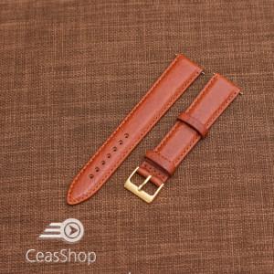 Curea piele VERONA maro, captusita  20mm -XL- 46345