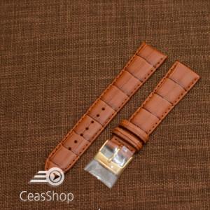 Curea piele vitel maro deschis, handmade, căptusită 21mm - 43620
