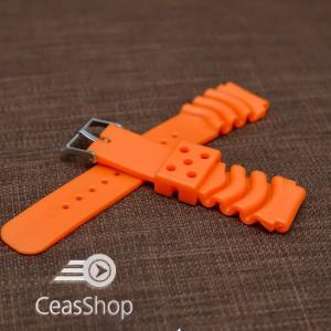 Curea poliuretan portocalie 22mm(26mm) - 39931