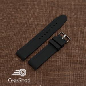 Curea silicon neagra capat curbat 22mm-49197