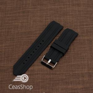 Curea silicon neagra capat curbat 22mm-49201