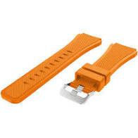 Curea silicon portocalie 22mm pentru Samsung Gear S3