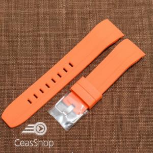 Curea silicon portocalie capat curbat 22mm - 47070