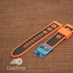 Curea silicon sport GRAND PRIX portocalie cu negru 20mm - 38160