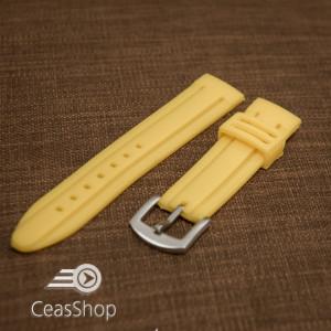Curea ceas sport  galbenă 22 mm - 34597