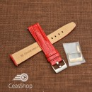 Curea model soparla captusita pe jumătate roșie  14mm - 45813