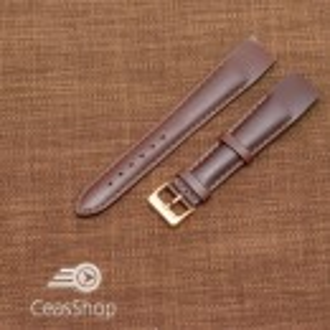 Curea piele vitel maro inchis, open end, 16mm - 36017