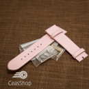 Curea roz piele vitel plată 14mm - 30733