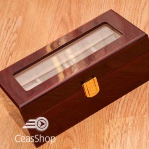 Cutie pastrare ceasuri lemn pentru 4 ceasuri