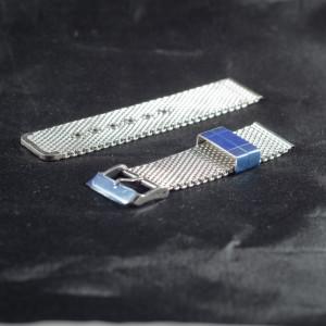 Bratara milaneza cu catarama argintie 12mm -38673