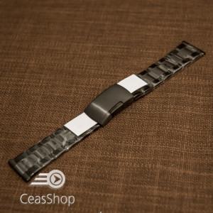 Bratara neagra 20mm capat drept - 40598