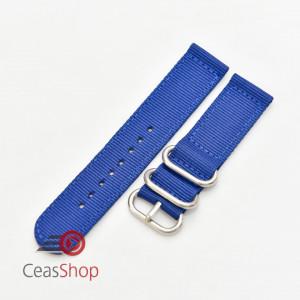Curea din tesatura de nylon albastră catarame zulu 22mm - 4080522