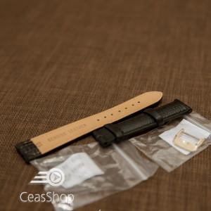 Curea neagra piele vitel model soparla captusita 18mm - 35967