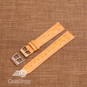 Curea piele de struț handmade,căptusită 20mm  - 33774