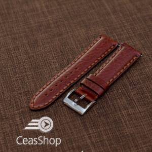Curea piele Napoli captusita maro  22mm - 19720