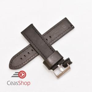 Curea piele neagră vintage QR 22mm - 3990122