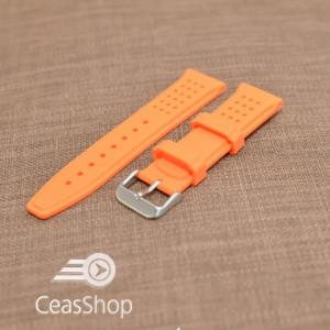 Curea silicon portocalie  24mm - 31720