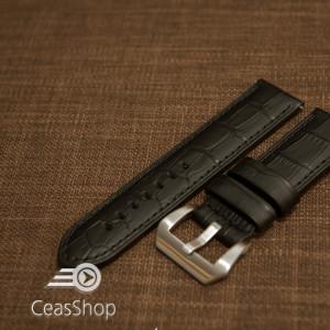 Curea tip PANERAI  piele vitel captusita model aligator  24mm - 45841
