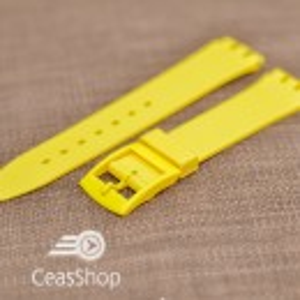 Curea tip Swatch 17 mm galbena