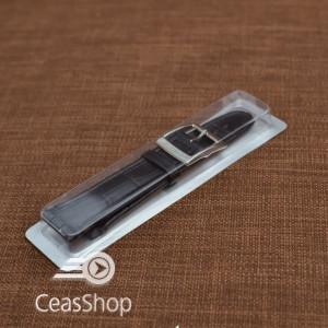 Curea tip SWATCH 19 mm neagra