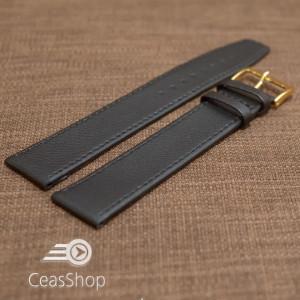 Curea piele vitel buffalo neagra plata XXXL 22mm - 36947