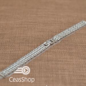 Bratara dama metalica argintie  12mm - 37533