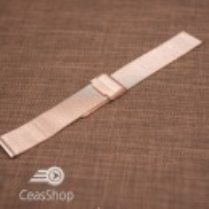 Bratara milaneza fina culoare aur roz 22mm -45631