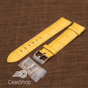 Curea model crocodil captusita galbenă 20m - 45799