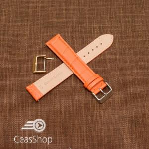 Curea model crocodil captusita portocalie  22m XXL - 45762