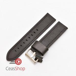 Curea piele neagră vintage QR 24mm - 3990124
