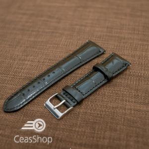 Curea piele vitel, italiană, neagra captusită, lucioasă  20mm QR- 33822