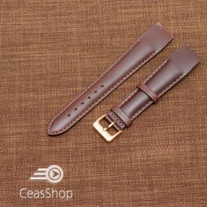 Curea piele vitel maro inchis, open end, 20mm - 36020