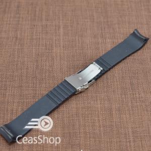 Curea silicon neagra capat curbat 20mm - 47975