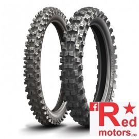 Set anvelope/cauciucuri moto Michelin Starcross 5 80/100 R21 Sand + 100/100 R18 Soft