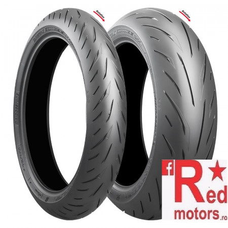 Set anvelope/cauciucuri moto Bridgestone S22 F N TL 120/70ZR17 58W Front + R TL 180/55ZR17 73W Rear