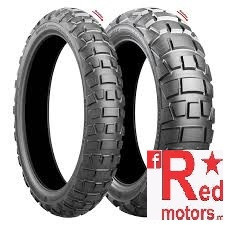 Set anvelope/ cauciucuri moto Bridgestone Battlax AX 41 M+S TL 90/90-21 54Q Front + S M+S TL 130/80-17 65H Rear