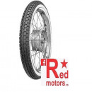 Anvelopa/cauciuc moto fata/spate Continental KKS10 (23 X 2,50) TT 2 1/2-19 45J Front/Rear WW (talon alb)