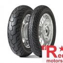 Set anvelope/cauciucuri moto Dunlop D404 WWW ( Anvelope cu talon alb) 150/80 R16 71H TL + 150/80 R16 71H TT