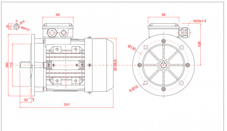 Motor electric trifazat 0.18kw 1000rpm 71 B5