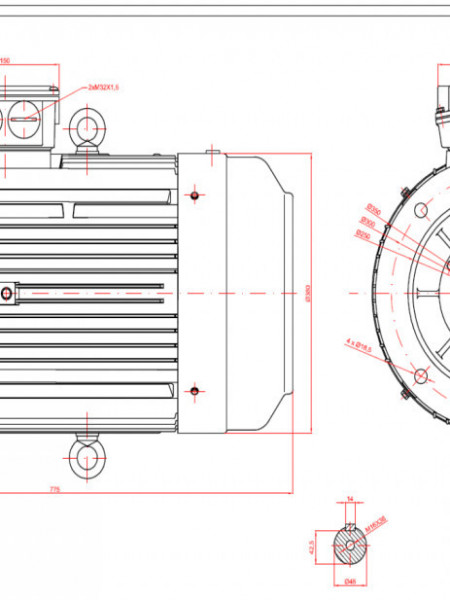 Motor electric trifazat 11kw 1400rpm 160 B5
