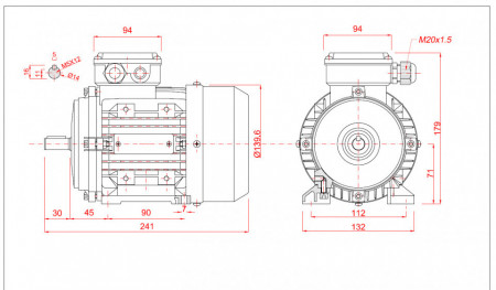 Motor electric monofazat 0.55kw 3000rpm 71 B3