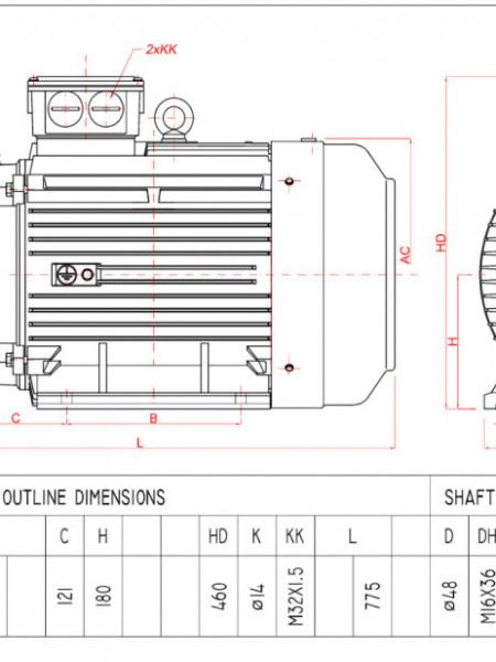 Motor electric trifazat 18.5kw 1400rpm 180 B3